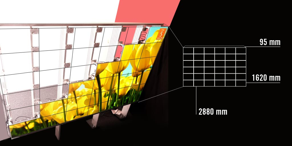 LED wall for Full-HD resolution