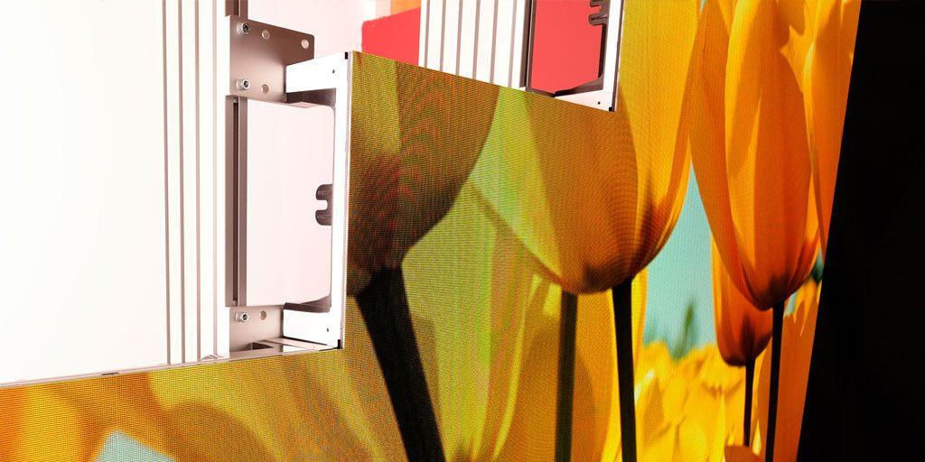 LED-Video-Wall Videowand im Anschnitt